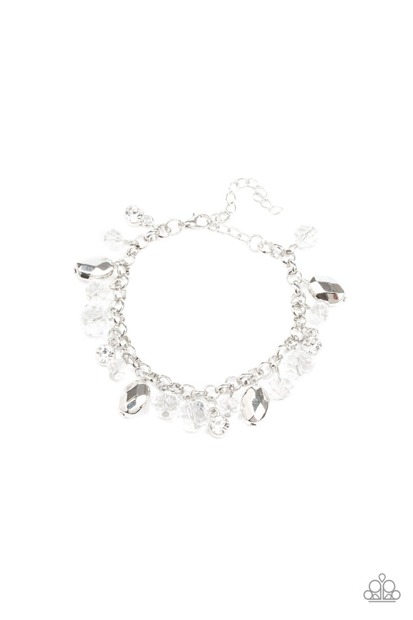 Dazing Dazzle White Bracelet - Paparazzi Accessories