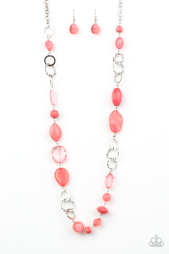 Prismatic Paradise Pink Necklace - Paparazzi Accessories