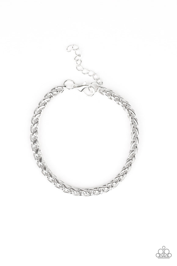 Knocked It Out Of The Park Silver Urban Bracelet - Paparazzi Accessories