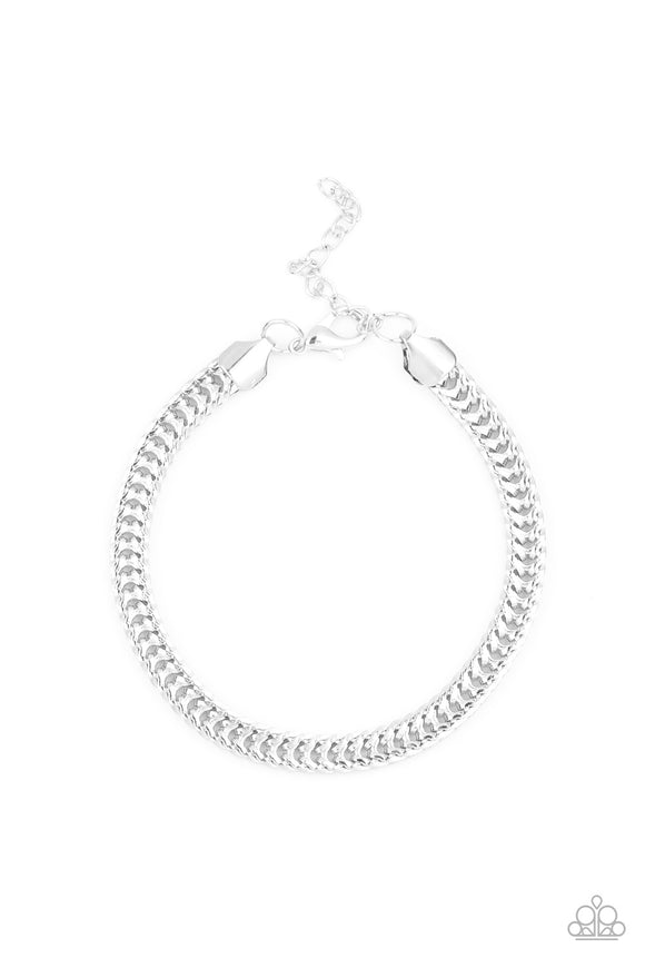 One-Two Knockout Silver Urban Bracelet - Paparazzi Accessories