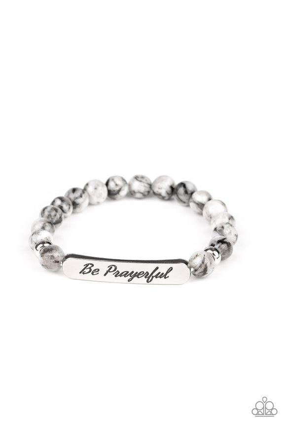 Be Prayerful Black Inspirational Bracelet - Paparazzi Accessories