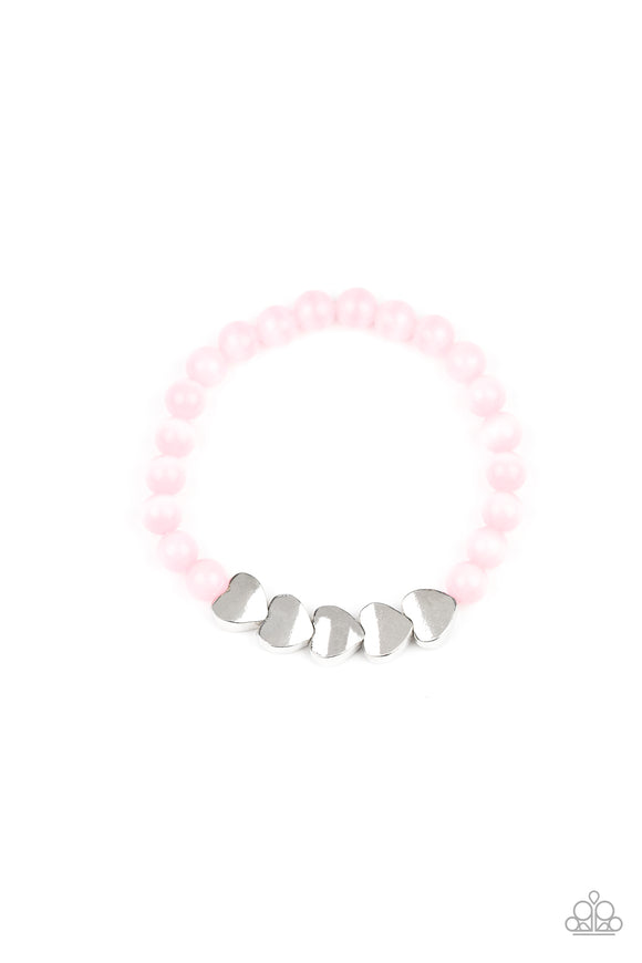 Heart-Melting Glow Pink Bracelet - Paparazzi Accessories