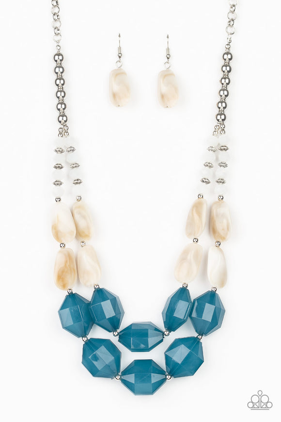 Seacoast Sunset Blue Necklace - Paparazzi Accessories