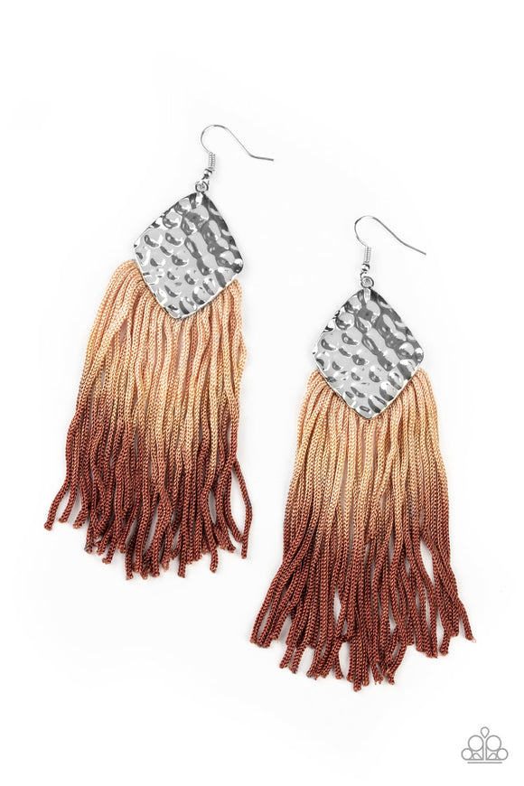 Dip In Brown Earring - Paparazzi Accessories