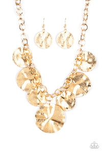 Barely Scratched The Surface Gold Necklace - Paparazzi Accessories