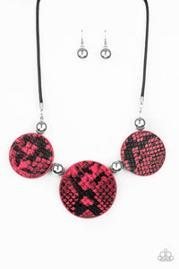 Viper Pit Pink Necklace - Paparazzi Accessories