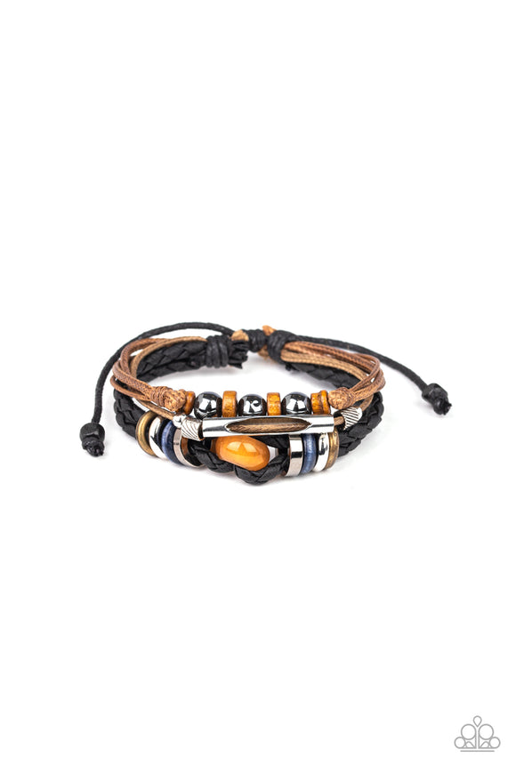 Wander More Orange Urban Bracelet - Paparazzi Accessories