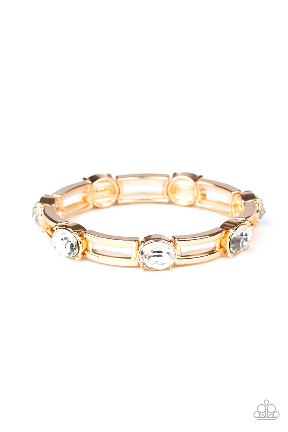 FLASH or Credit? Gold Bracelet - Paparazzi Accessories
