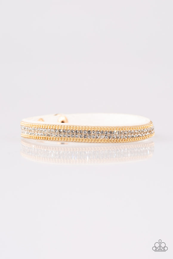 Babe Bling White Wrap Bracelet - Paparazzi Accessories