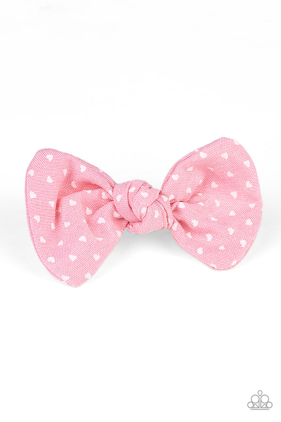 BOW a Kiss Pink Hair Clip - Paparazzi Accessories