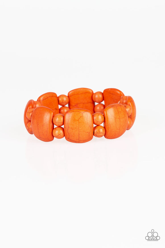 Dont Be So NOMADIC! Orange Bracelet - Paparazzi Accessories