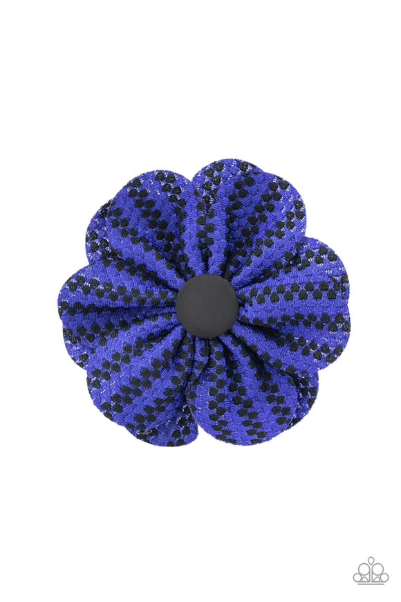 Electric Garden Blue Hair Clip - Paparazzi Accessories