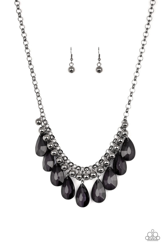 Fashionista Flair Black Necklace - Paparazzi Accessories