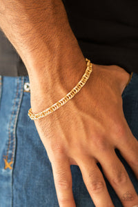 Fighting Chance Gold Urban Bracelet - Paparazzi Accessories