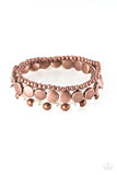 Girly Girl Glamour Copper Bracelet - Paparazzi Accessories