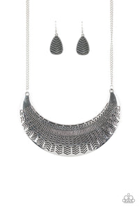 Large As Life Silver Necklace - Paparazzi Accessories