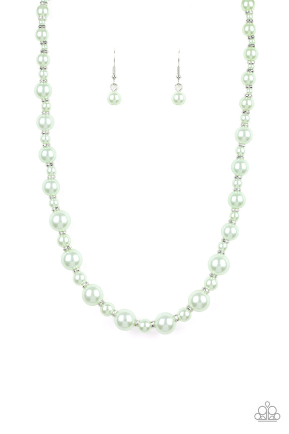 Pearl Heirloom Green Pearl Necklace - Paparazzi Accessories