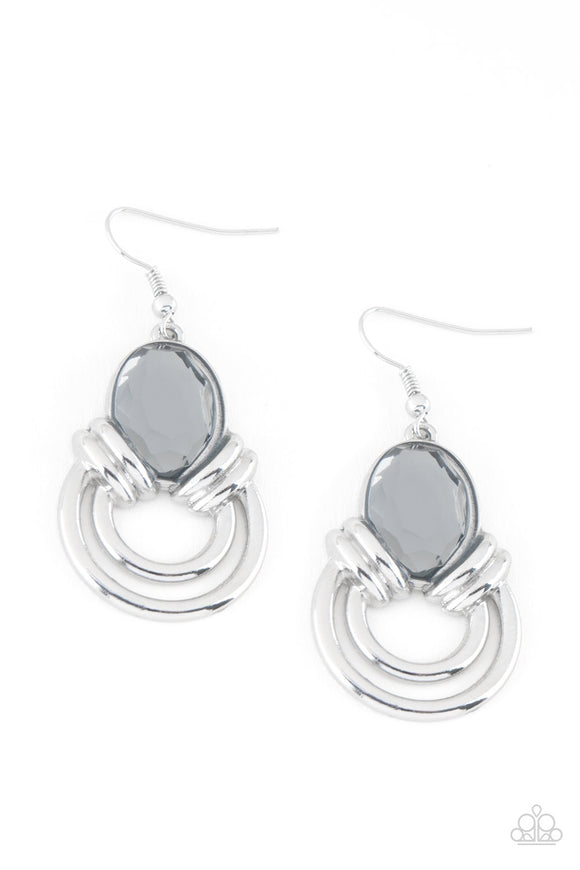 Real Queen Silver Earring - Paparazzi Accessories