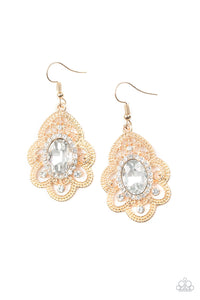 Reign Supreme Gold Earring - Paparazzi Accessories