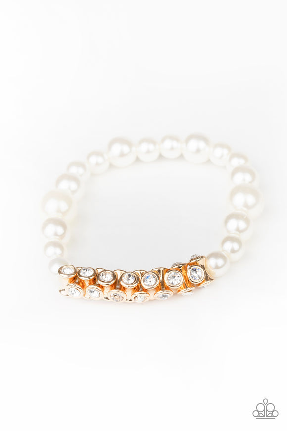 Traffic-Stopping Sparkle Gold Bracelet - Paparazzi Accessories