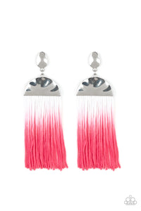 Rope Them In Pink Earring - Paparazzi Accessories