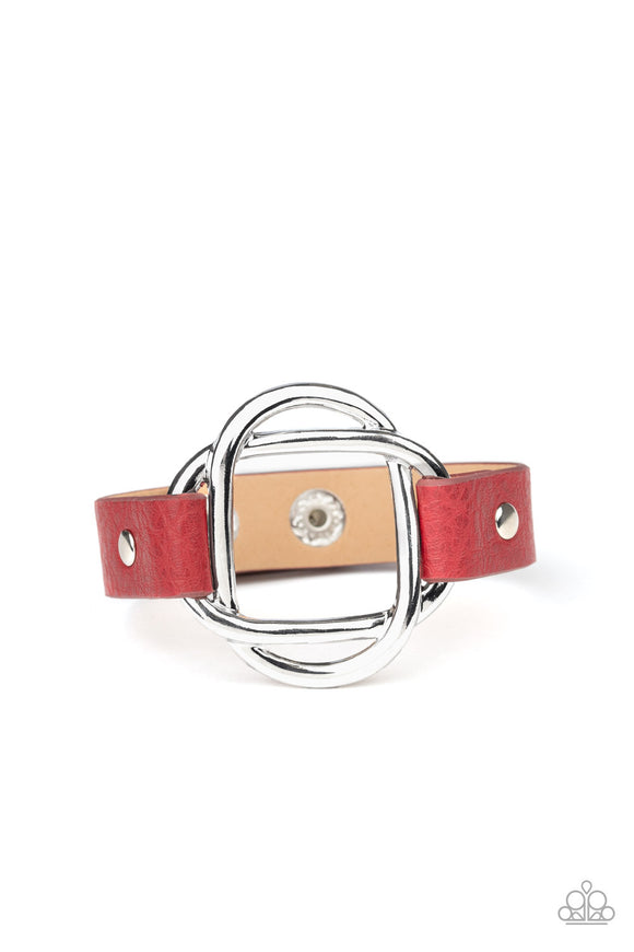 Nautically Knotted Red Wrap Bracelet - Paparazzi Accessories