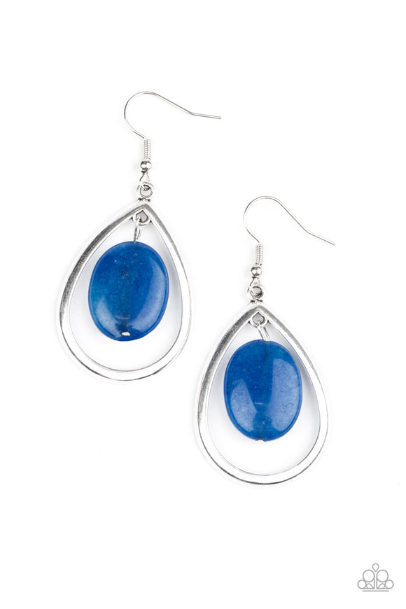 Seasonal Simplicity Blue Earring - Paparazzi Accessories