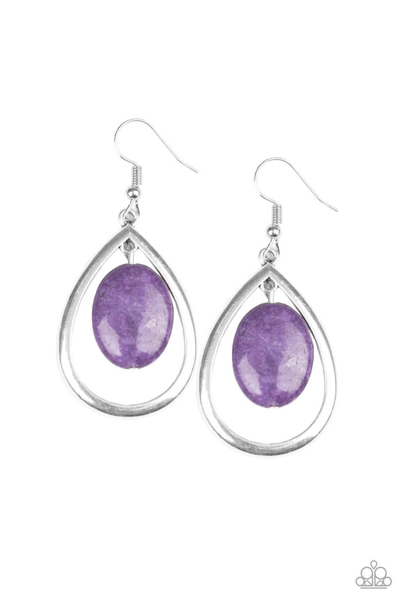 Seasonal Simplicity Purple Earring - Paparazzi Accessories