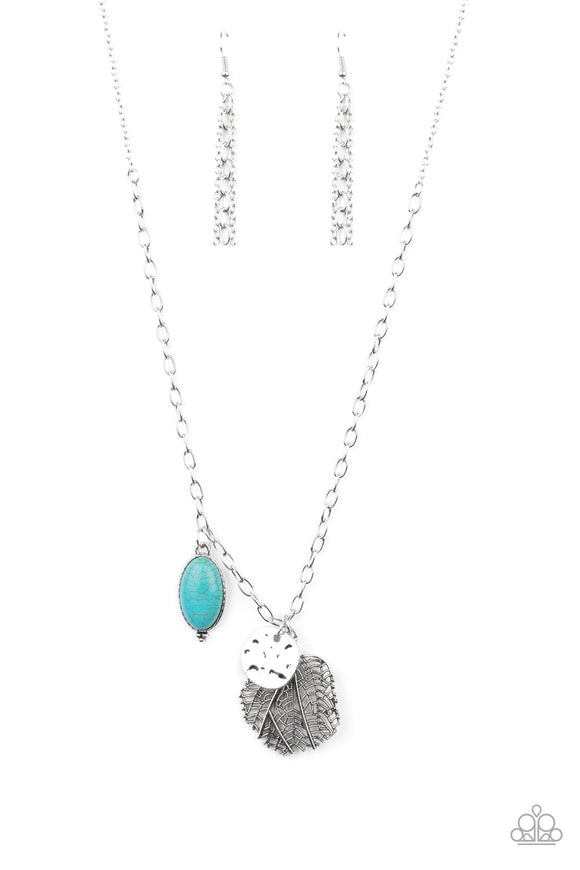 Free-Spirited Forager Blue Necklace - Paparazzi Accessories