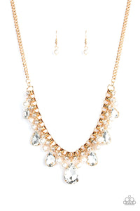 Knockout Queen Gold Necklace - Paparazzi Accessories