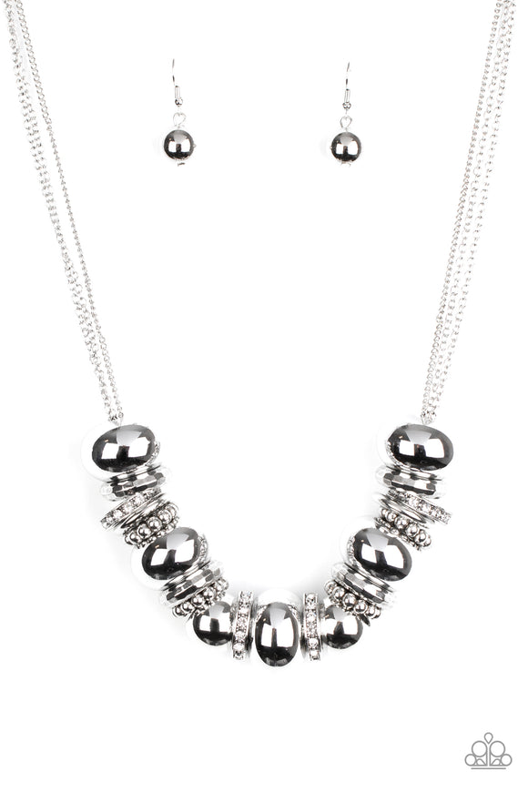 Only The Brave White Necklace - Paparazzi Accessories