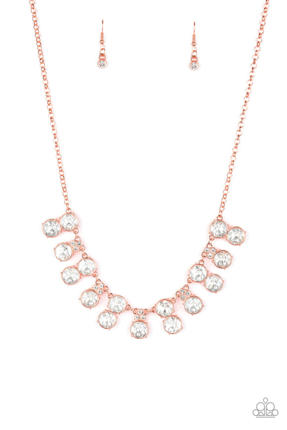 Top Dollar Twinkle Copper Necklace - Paparazzi Accessories