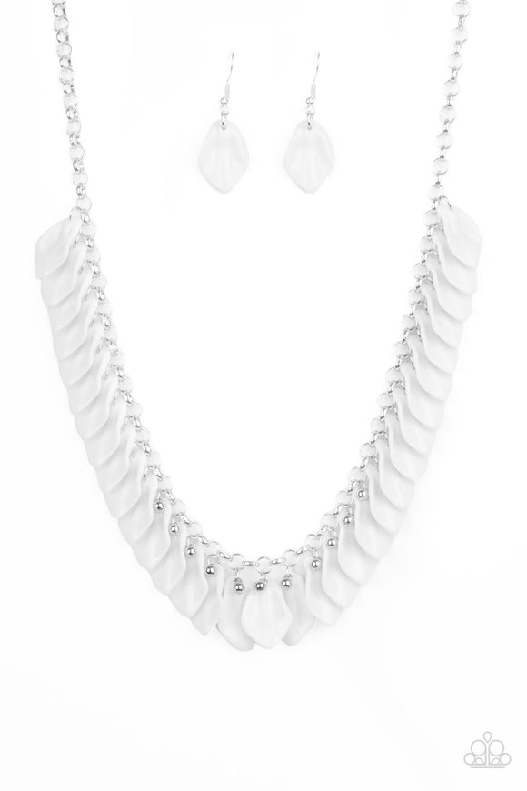 Super Bloom White Necklace - Paparazzi Accessories