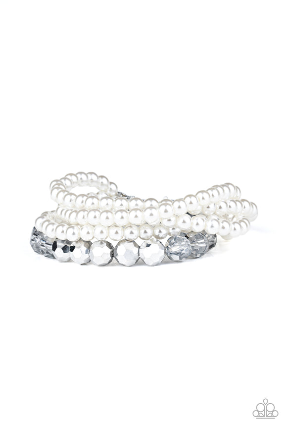 Refined Renegade White Bracelet - Paparazzi Accessories