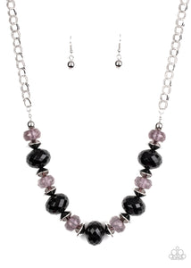 Hollywood Gossip Black Necklace - Paparazzi Accessories
