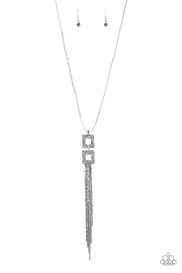 Times Square Stunner Silver Necklace - Paparazzi Accessories