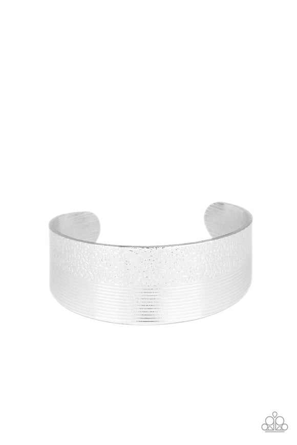 Mixed Vibes Silver Cuff Bracelet - Paparazzi Accessories