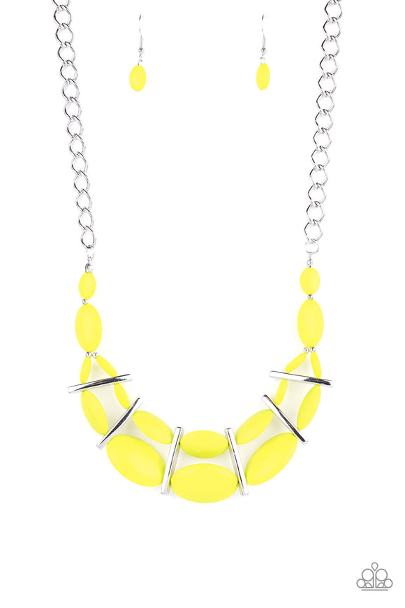 Law of the Jungle Yellow Necklace - Paparazzi Accessories