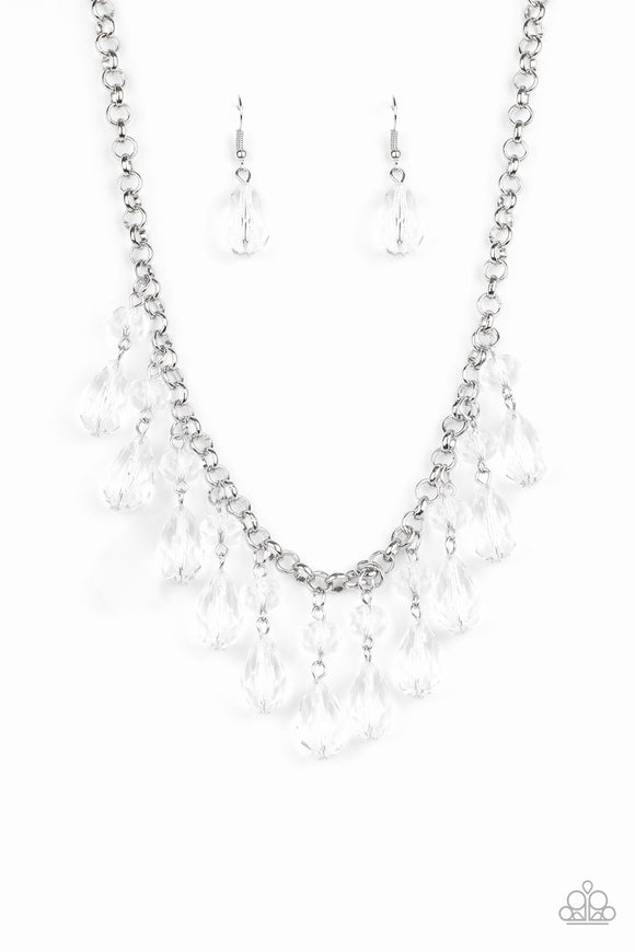 Crystal Enchantment White Necklace - Paparazzi Accessories