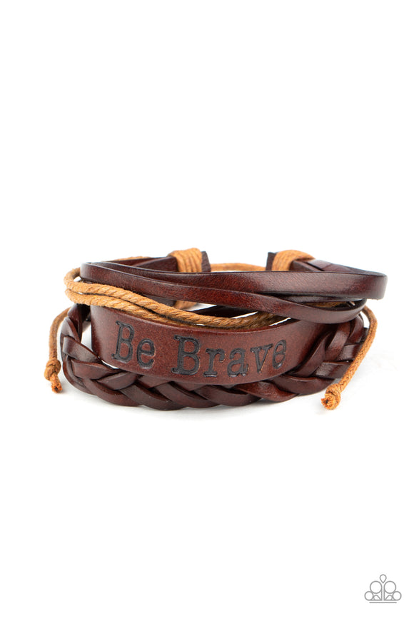 Brave Soul Brown Urban Bracelet - Paparazzi Accessories