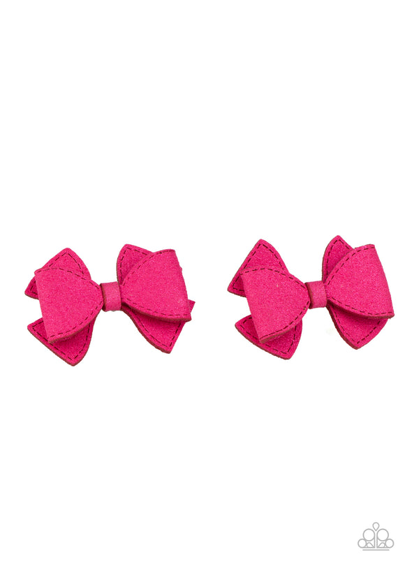 Dont BOW It Pink Hair Clip - Paparazzi Accessories