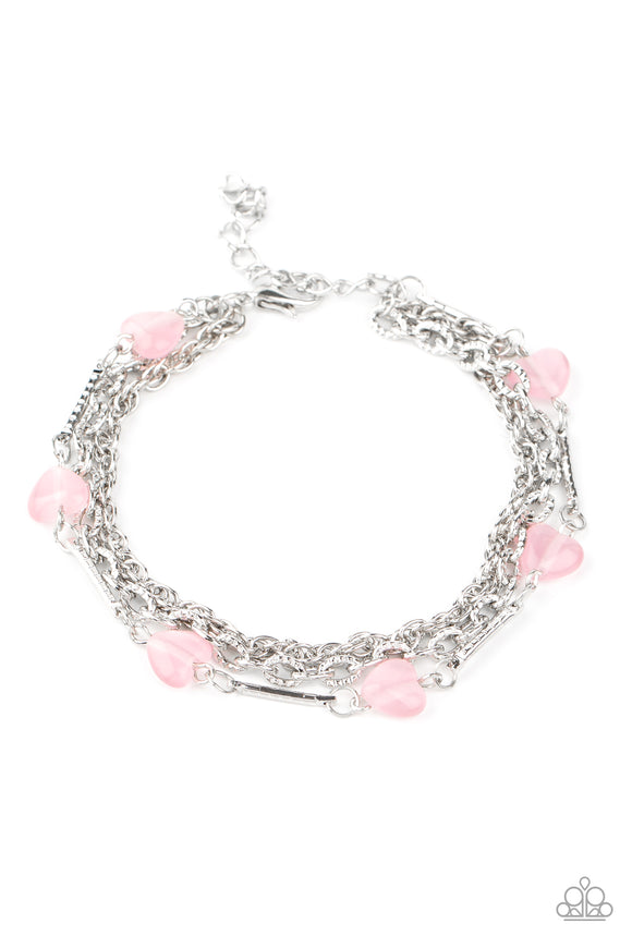 To Love and Adore Pink Bracelet - Paparazzi Accessories