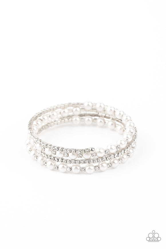 Starry Strut White LOP Bracelet - Paparazzi Accessories
