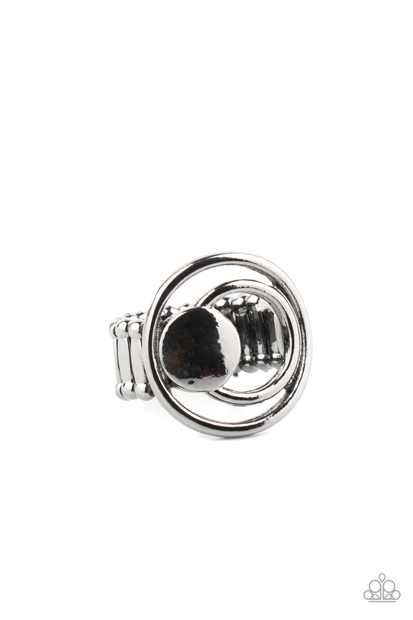 Edgy Eclipse Black Ring - Paparazzi Accessories