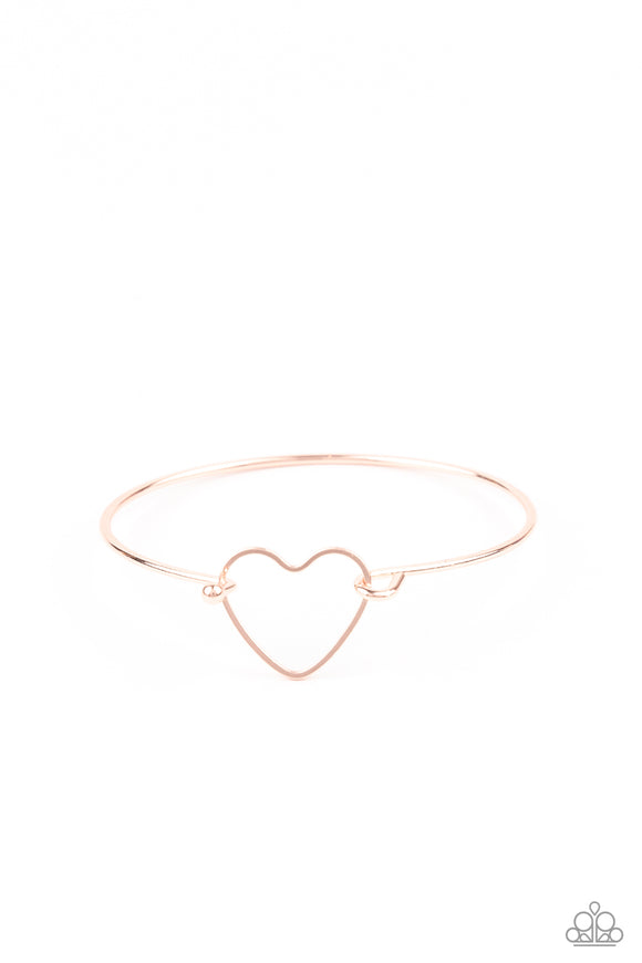 Make Yourself HEART Rose Gold Toggle Bracelet - Paparazzi Accessories