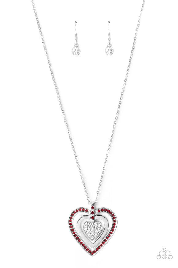 Bless Your Heart Red Necklace - Paparazzi Accessories