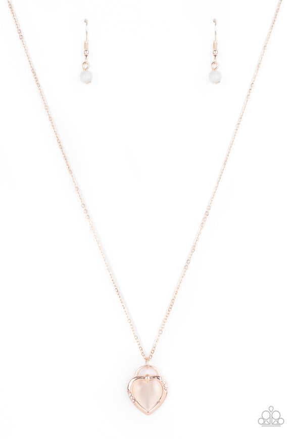 A Dream is a Wish Your Heart Makes Rose Gold Necklace - Paparazzi Accessories