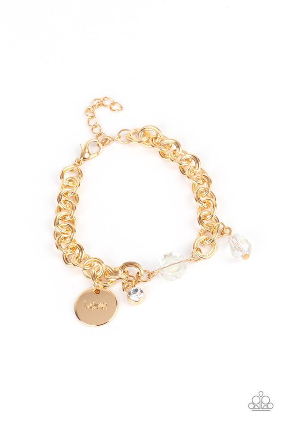 Lovable Luster Gold Bracelet - Paparazzi Accessories