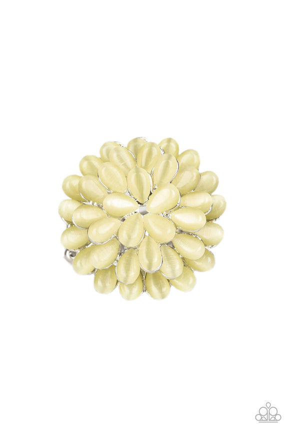 Bloomin Bloomer Yellow Flower Ring - Paparazzi Accessories