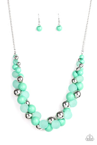 Bubbly Brilliance Green Necklace - Paparazzi Accessories